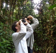 Sam Flake and me on the trans-Manu bird census