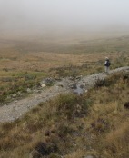 David Wilcove surveys the paramo above Bosque Unchog
